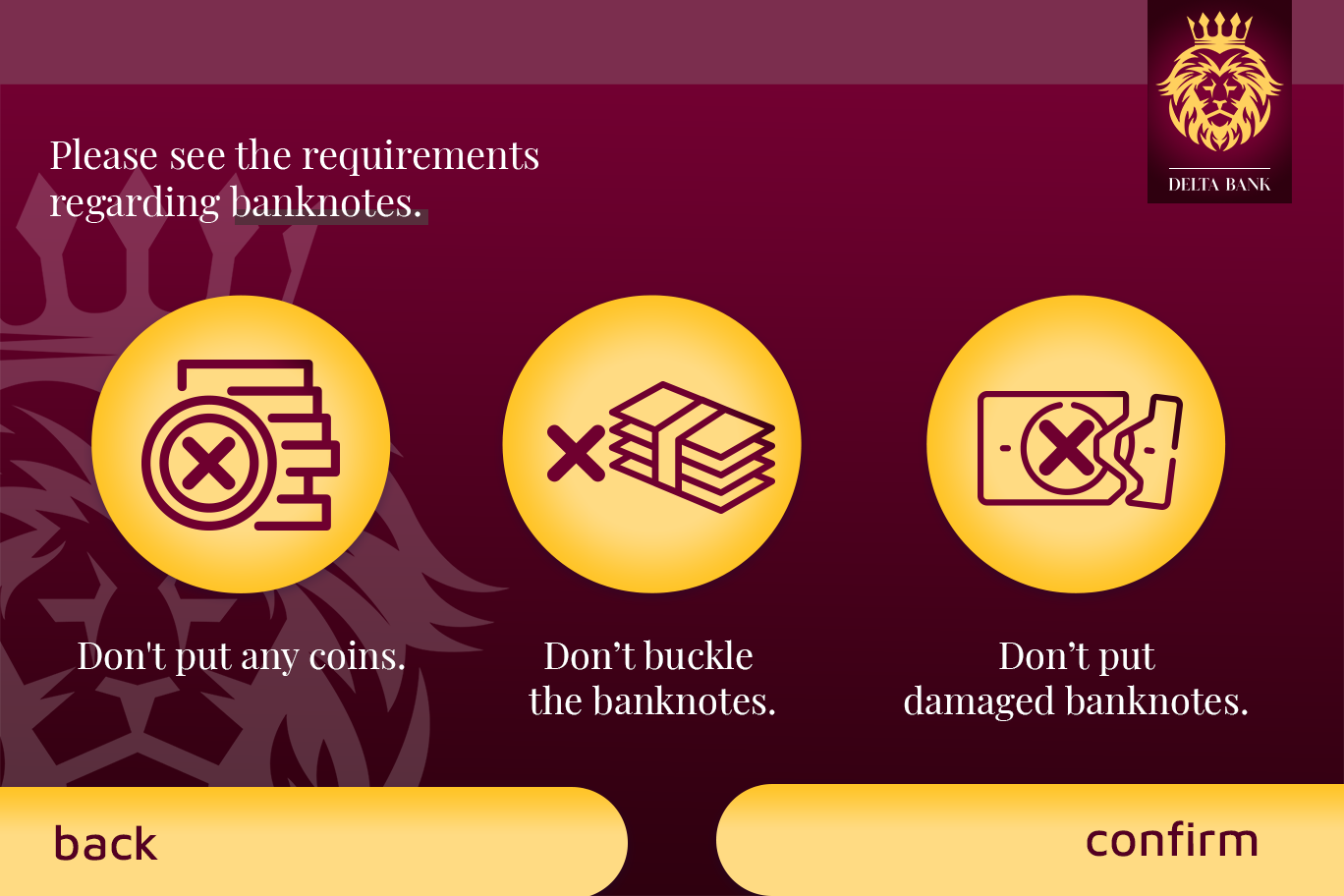 Banknote requirements@0,5x